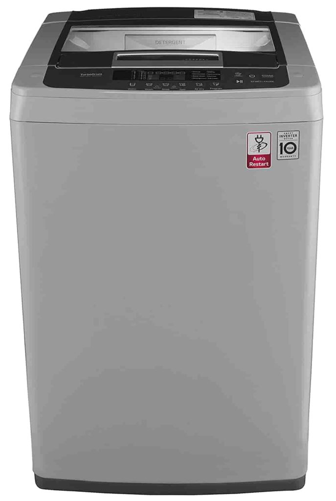 Best washing machine for a small family - LG 6.5 kg Inverter Fully-Automatic Top Loading Washing Machine